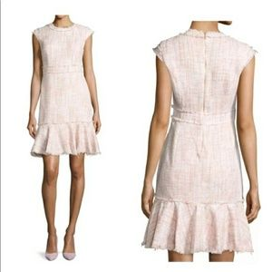 Nanette Lepore Women's Pink Tweed Mini Dress 4